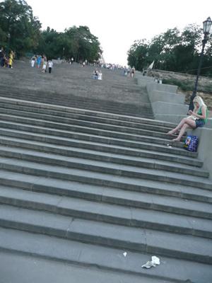 """Odesa. La escalera que aparece en """"Acorazado Potemkin"""""""