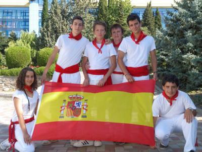 Grupo español en Artek