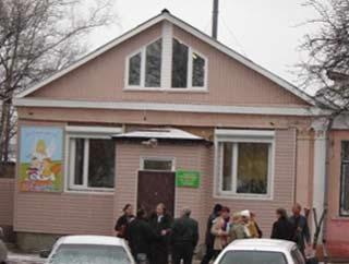Edificio del centro infantil en Romanovka fundado por la Congregación de Santa Ana