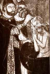 Крещение еврея, старинное изображение