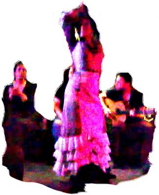 "Фламенко в Севилье, в баре ""La Caja Negra"""