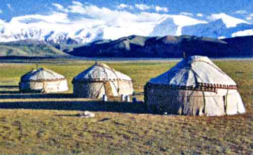 Yurty en Kazajistán